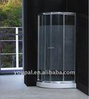 Tempered shower glass , aluminum framed shower door, classic bathroom design, many bathroom sizes, half price to sell