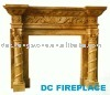 Sunny Yellow marble Fireplace