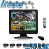 4CH H.264 stand-alone network dvr 4pcs 420TVL bullet camera with 15inch color LCD