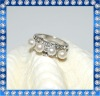 6mm fashion freshwater simple pearl rings