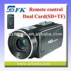 Dual SD(SD+MicroSD) Card TOUCH PANEL VIDEO CAMER PORTABLE CAMCORDER