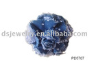 fabric flower brooch /floral pin /fashion jewelry brooch