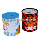 fashion round money saving tin can cion bank tin box coin tin banktin money bank