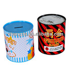 fashion round money saving tin can cion bank tin box coin tin banktin money bank