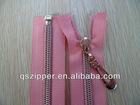 5# gold teeth nylon zipper open end with auto-lock slider
