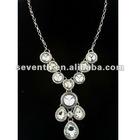Clear zircon Design Elegant shiny Long Necklace, Various shaped Zircon Necklace, 2012 Zircon Alloy Necklace