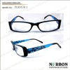 Fashion design! plastic reading glasses PL8347R-1