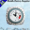 Round global washing machine timer with white color