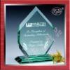 beautiful jade glass trophy