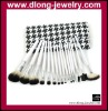 16PCS Natural Animal Hair Brushes Set With Black and White Checked Bag Cosmetics/Makeup Tool Kits
