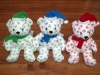 Microbead Christmas Bear(stuffed holiday toys)