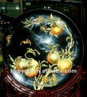 delicate round lacquer tray for decoration