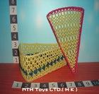 Triangle crochet box w/cover
