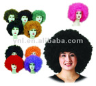 2012 Good quality football sports fan wigs/party wigs