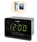 BEDROOM CLOCK RADIO WITH USB SD FUNCTION