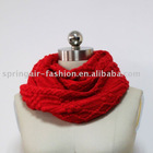 Winter ladies red knitted fashion scarf