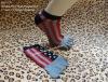 men's jacquard five toes socks with heel