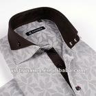 202 new design jacquard man's casual shirts