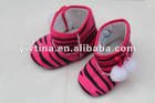 Wholesale!! Hot Pink Zebra Baby Boots Infant Boots For Girls
