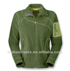 ladies micro polar fleece jacket & casual women sport zip jackets