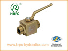 hydraulic oil male threaded ball valve