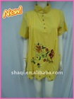 Long style embroidered casual shirt for women