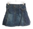 Cotton Denim Mini Six-gore Skirt for girls