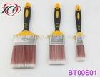Hot sale! Rubber plastic handle, red filament Paint brush set