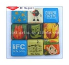 2012 new product resin fridge magnet