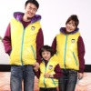 yellow worsted family/children vests and waistcoats