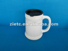 white ceramic beer mug for promotion with customized logo