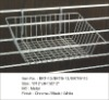 Wire basket for slat wall