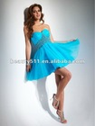 2013 lovely sweetheart organza cocktail dress with beading accents full skirt mini length CD2021