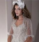 2011 most popular short sleeve Organza wedding jacket JK047