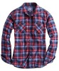 plaid flannel botton down shirt for girls