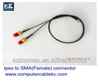 (KCRF-002)RF cable with SMA connector, High Frequency RF cable with SMA(Male)-Ipex(Male) connector, RJ 1.13 SMA coaxial Cable