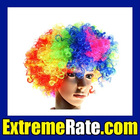 Party Afro Wig for Masquerade Party Multicolour