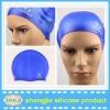 Promotion fashional printing silicone swim cap
