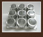 9 pcs stainless steel spice shaker set