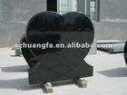 Classic Style Shanxi Black Granite Tombstones