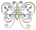 beautiful butterfly new design hot fix strass motif rhinestone transfer