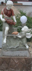 Stone Marble Small Fountain With Children Statue