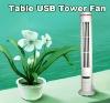 Woo! USB mini Tower Fan+LED Light+good price+fashion design