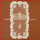 White Elegant hotest and latest embroidery mesh lace fabric tablecloth of 2012