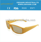 Ergonomics high quality yellow lens customized frame night driving glasses anti-dazzle,anti-vetigo for kids