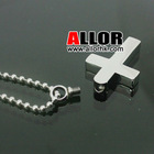 Fashion Ball Chain Stainless Steel Cross Pendant