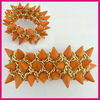 New hot orange Turquoise rivet elastic Bracelet Fashion woman accesories