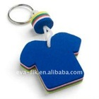 T-shirt shape EVA promotion keychain