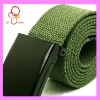 Fashion Canvas Branded Colored Green Belt Manufacturer
