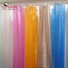 3D shower curtain with different colors